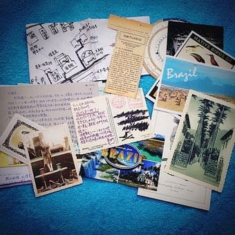 Postcard, Photo, Memory, Tourism, Words