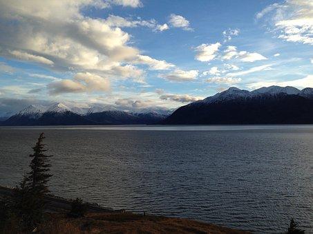 Canada, Lake, Mountain, Nature, Sunset, Tranquil, Tree