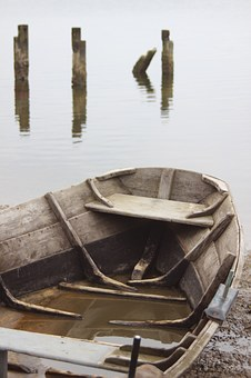 Rowing Boat, Boat, Old, Water, Reflection, Peaceful