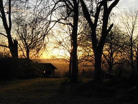 Home, Fall, Sunset, Oregon Illinois, Autumn, Estate