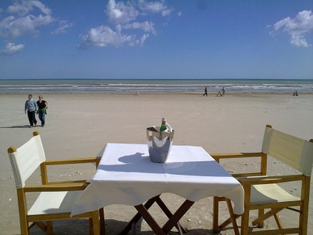 Cervia, Sea, Beach, Sun, Holiday, Table, Restaurant