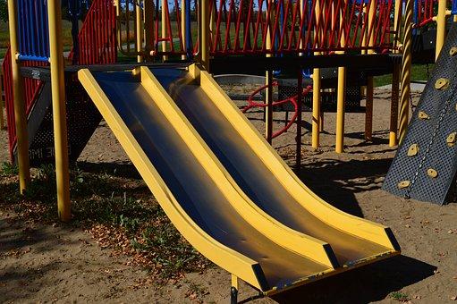 Slide, Playground, Park, Childhood, Playing, Equipment