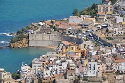 Drills, City, Sea medterranean, Sicily, Landscape