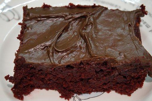 Chocolate Cake, Ganache, Dessert, Chocolate