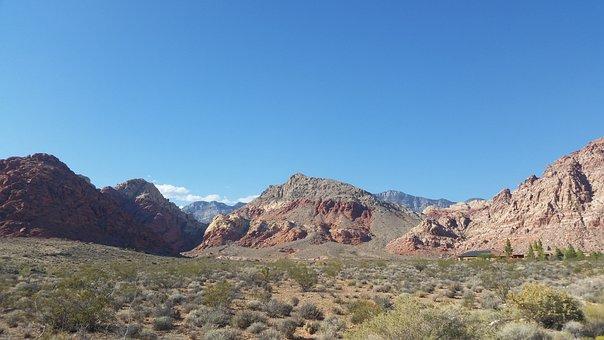 Red Rocks, Dessert, Las Vegas, Sky, Red, Rock, Mountain