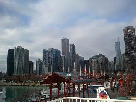 Chicago, Michigan, Illinois, Navy, Pier, Harbour