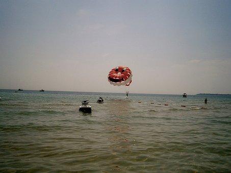 Parachute At Sea, Parachute, Sea, Bulgaria
