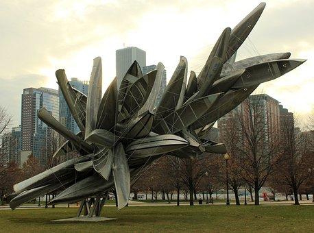 Illinois, Usa, Chicago, Art, Navy, Pier