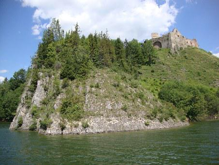 Czorsztyn, Poland, Castle, The Ruins Of The, Rocks