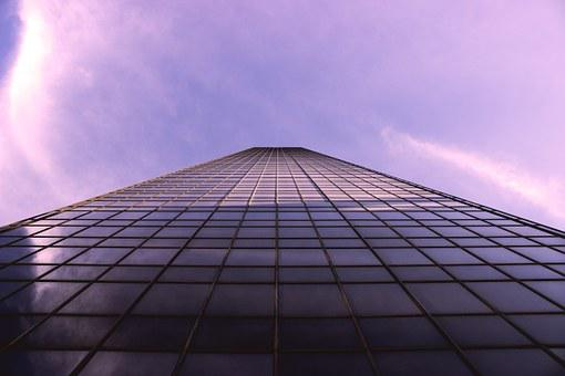 Building, Tower, High Rise, Architecture, Purple, Sky