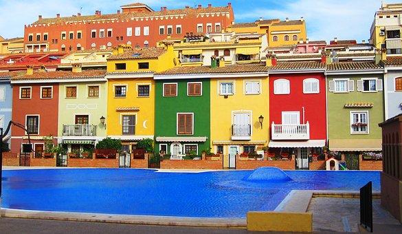 Port Saplaya, Spain, Valencia, Valence, Swimming Pool