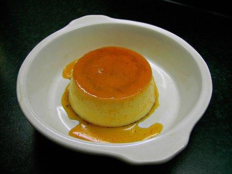 Pudding, Vanilla Pudding, Dessert, Sweet Dish