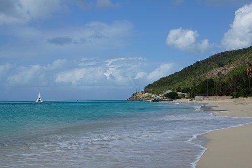 Antigua, Caribbean, Beach, Sea, Ocean, Blue, Swim, Fun