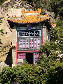Temple, Building, Architecture, China, Fengcheng