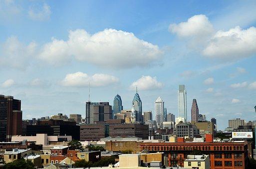 Philadelphia, City, Pennsylvania, Skyline, Skyscraper