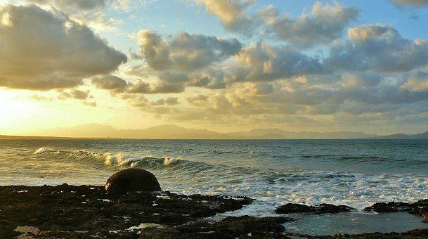 Coast, Sea, Rocky Coast, Surf, Beach, Mediterranean