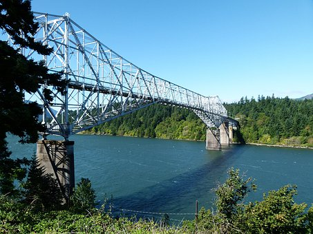 Bridge Of The God, Oregon, Usa, Iron, Columbia River