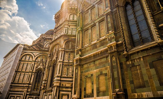 Florence, Italy Domo, Cathedral, Architecture, Clouds
