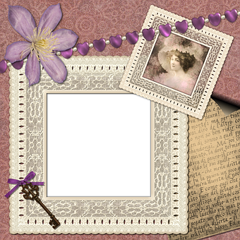 Scrapbook, Scrap, Background, Page, Craft, Lace