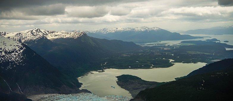 Alaska, Mendenhall Glacier, Scenic, Landscape