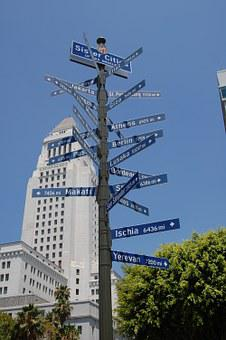 Los Angeles, Guide Plate, City Hall