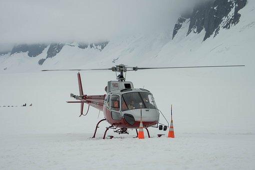 Helicopter, Alaska, Mendenhall Glacier