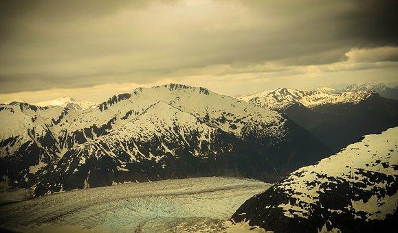 Mendenhall Glacier, Alaska, Mountains, Snow, Scenic