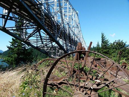 Bridge Of The God, Building, Iron, Oregon, Usa