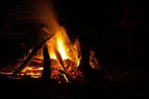 Fire, Outside, Outdoor, Sweden, Flames, Campfire