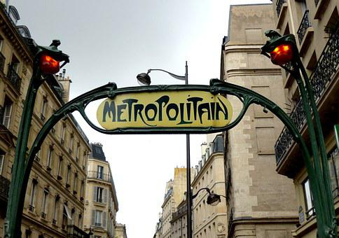 Metro, Paris, Metro Entrance, Shield