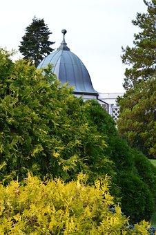 Gazebo, Autumn, Garden, Trees, Landscape, Season