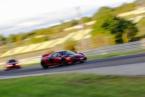 Car, Racing, Competition, Mclaren, 650s, Panning