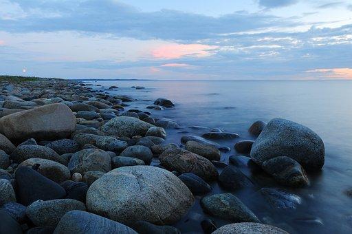 Stones, Beach, Sea, Stone, Nature, Bathing Beach, Surf
