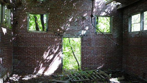 Abandoned, Wash House, Centralia, Deserted, History