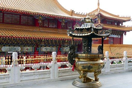 Temple, Buddhism, Taoism, Taiwan, China, Gods, Roof