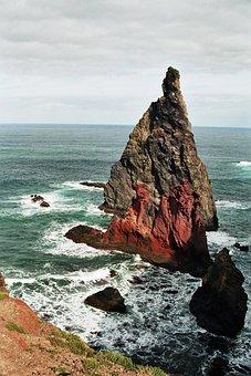Madeira, East Coast, Rock, Ocean, Atlantic, Portugal