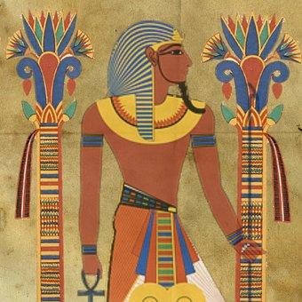 Egyptian, Tutunkhamun, Pharaoh, Design, Man, Headpiece
