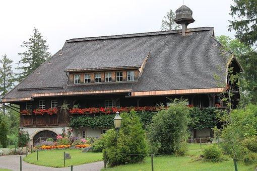 Forest House, Home, Black Forest, Village, Truss