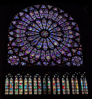 Glass, Color, Stained, Paris, France, Cathedral