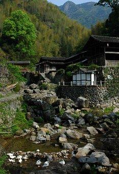 Nanxi, Mountain Village, Streams, House, Quiet, Goose