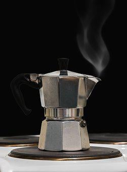 Tea, Coffee, Smoke, Steam, Heiss, Old Coffee Maker