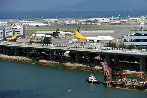 Hong Kong Airport, Airport, China, Island, Lantau