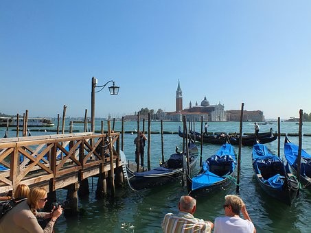 Venice, Italy, Gondolas, Cathedral