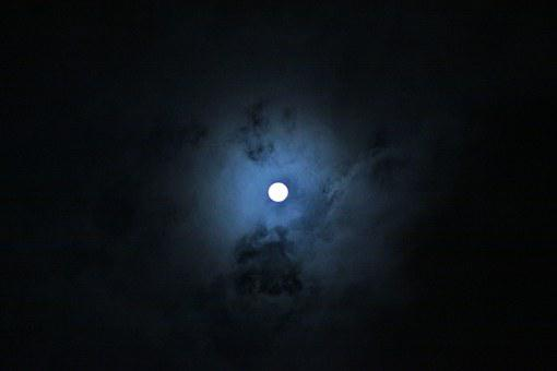 Night View, Moon, Cloud, The Night Sky, Night