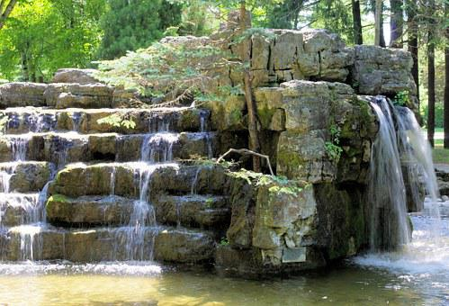 Waterfall, Cascade, Artificial, Decor, Park, Ontario