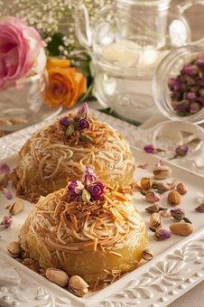 Pasta, Balaleet, Sago, Sweet, Flowers, Rose, Pistatio