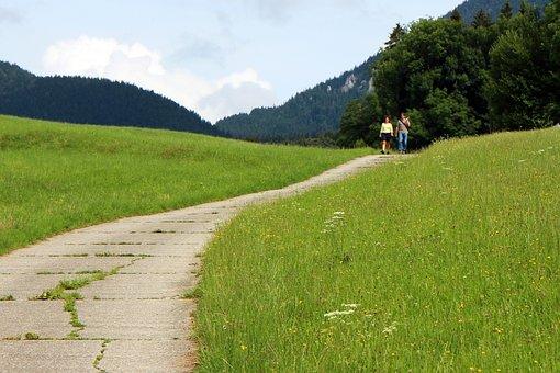 Away, Lane, Nature, Hiking, Walk, Personal, Pair, Trail