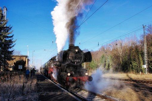 Steam Locomotive, Railway, Locomotive, Train