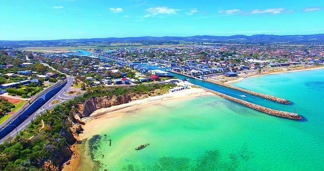 Drone, Drone View, Aerial View, Safety Beach, Australia