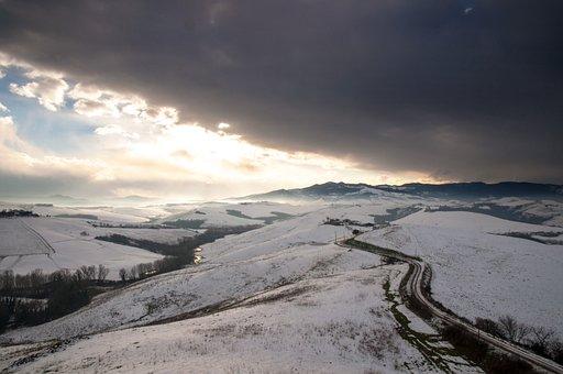 Snow, Winter, Landscape, Tuscany, Cold, White, Season